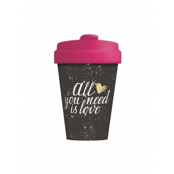 Bamboo Cup - All you need is love - BCP300